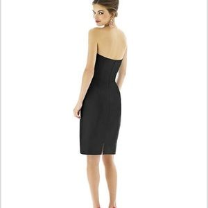 Alfred Sung Strapless wrap Dress